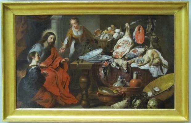 D'après Érasme Quentin II (né et mort à Anvers: 1607-1678). Jésus entre Marthe et Marie. Musée des Beaux-Arts de Bordeaux (crédit: Olivier Bauer)
