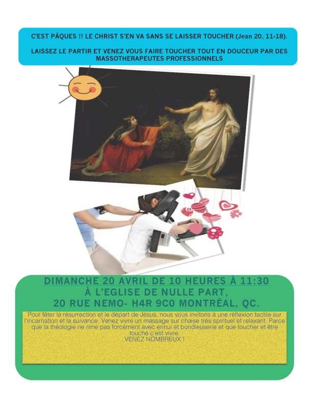 """Affiche de l'activité imaginée et proposée par Jörg Engelmann lors du cours """"THP6205 Christianisme et Transmission"""" (Université de Montréal. Hiver 2014)"""