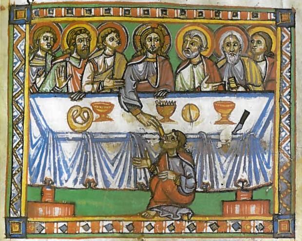 ? - 1175/99 - Bible moralisée (Sankt-Florian, Autriche: Abbaye; Stiftsbibliothek: Cod III 208, fol. 156r)