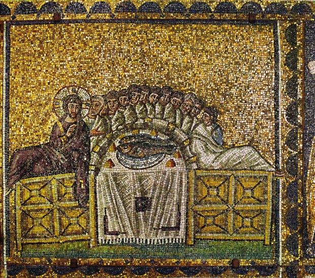 Anonyme (500-520). Ravenne (Émilie-Romagne, Italie); basilique S. Appolinare Nuovo (mosaïque)