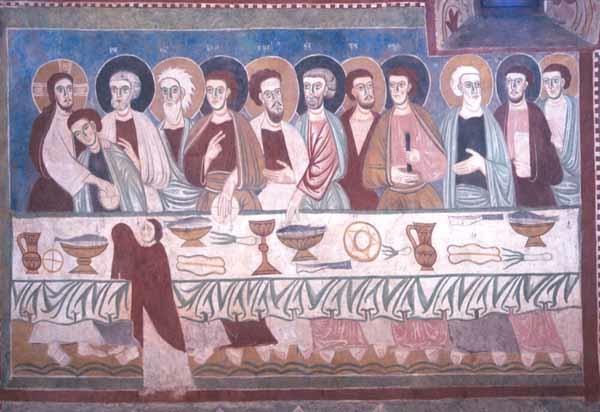 Anonyme (13e siècle). Fossa (Abruzzes, Italie). Chiesa di Santa Maria della Grotte (fresque)