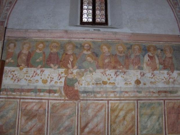 Tomasson da Modena ou son école (14e-15e siècle). Feltre (Vénétie, Italie); basilique SS. Vittore et Corona (fresque)