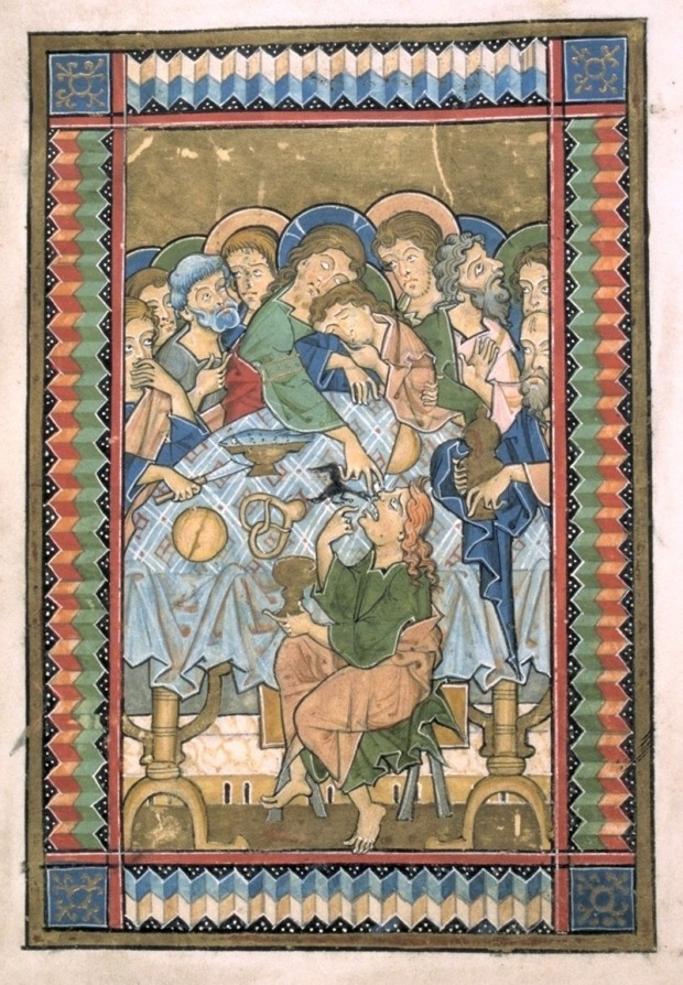 Würzburg - vers 1255/60 - Psautier de Würzburg (Melk, Autriche: Benediktinerstiftes: Psalterium Codex 1903, folio 11v)