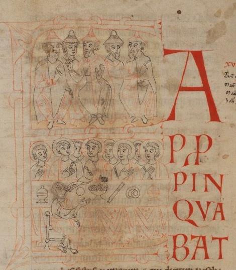Anonyme (1101-1115). Stuttgart (Allemagne); Württembergische Landesbibliothek: Cod. bibl. fol. 60, 43v