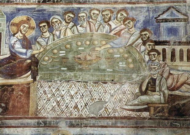 École de Monte Casino (1072-1087). Sant'Angelo in Formis (Capoue, Campanie, Italie); basilique (fresque)