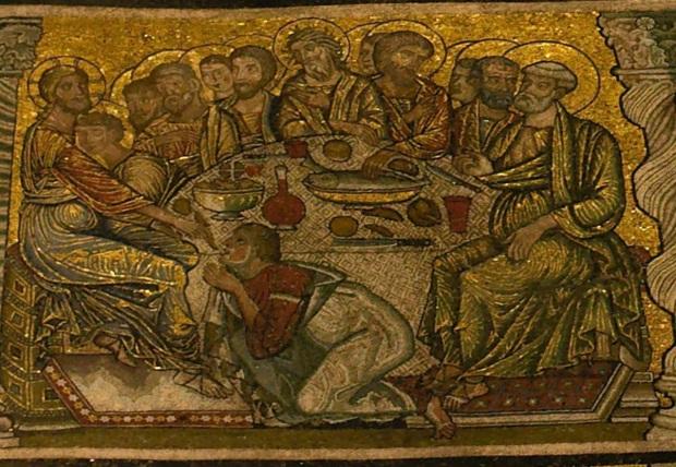 Gaddo Gaddi (vers 1285-1295). Florence (Toscane, Italie); baptistère San Giovanni (mosaïque)