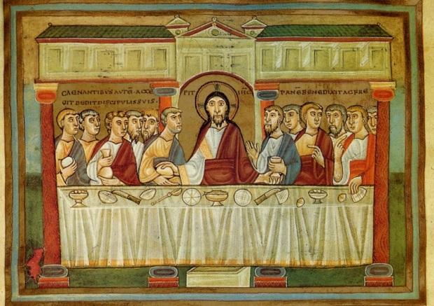 Anonyme (1043-1046). San Lorenzo de El Escorial, (Espagne); Colecciones del Real Monasterio, Biblioteca Real: Codex Vitrinas 17, 153 (miniature dans l'évangéliaire d'Henri III)