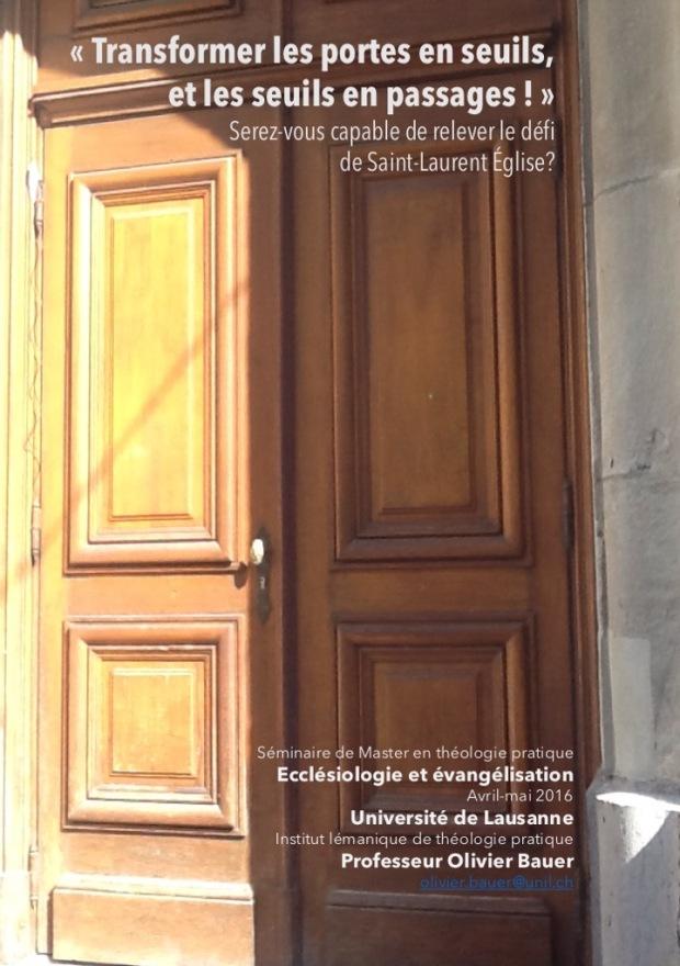 Cours de Master: Ecclésiologie et évangélisation