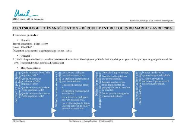 Plan de la troisième période du cours