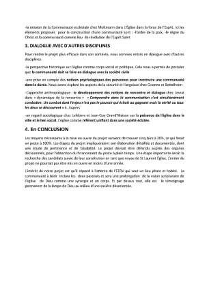 """Le projet """"Communauté"""" (page 2)"""