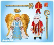 Un saint Nicolas avec un ange