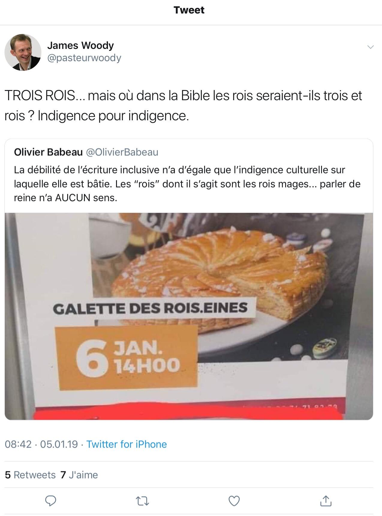 Gazouillis e @pasteurwoody: «TROIS ROIS... mais où dans la Bible les rois seraient-ils trois et rois? Indigence pour indigence.